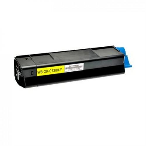 Toner OKI C5200 / 42804505 rumen kompatibilen